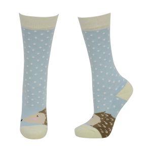 HyFASHION Hedgehog Socks (Pack of 3) - Purple/Orange/Light Blue - Child 8-12