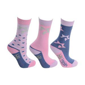 HyFASHION Zeddy Socks (Pack of 3) - Child 8-12