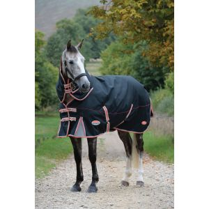 Weatherbeeta Comfitec Premier with Therapy-Tec Detach-a-neck Med Turnout Black/Red/Silver