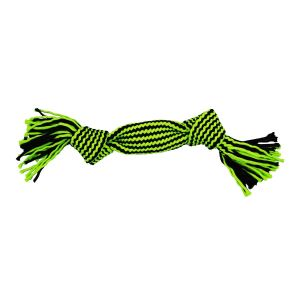 Jolly Pets Knot-n-Chew Squeaker Rope 2 Knot - Green/Black