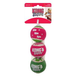 Kong SqueakAir Ball Holiday - Medium x 3 Pack