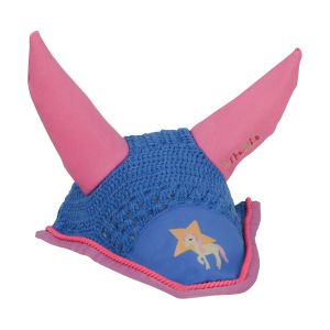 Little Rider Star in Show Fly Veil - Blue - Pony/Cob