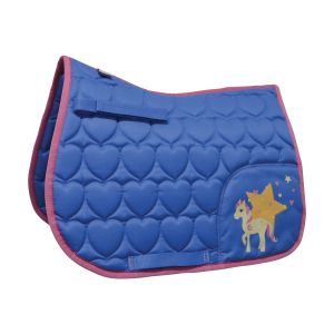 Little Rider Star in Show Saddle Pad - Blue - Pony/Cob