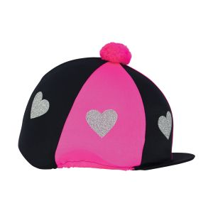 Little Rider Love Heart Glitter Hat Cover