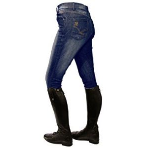 Mark Todd Ladies Denim Breeches - Dark Denim