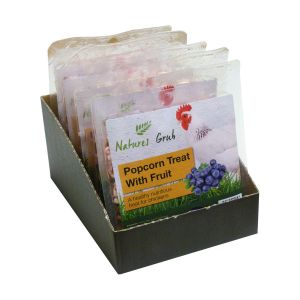 Natures Grub Popcorn Treat for Poultry with Fruit