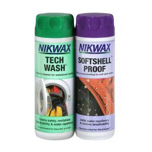 Nikwax Tech Wash/SoftShell Proof Twin Pack - 300ml