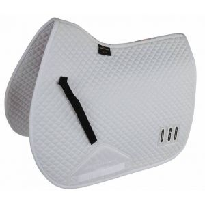 Shires Performance Numbered Saddlecloth - White - 17