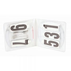 Roma Deluxe Oval 3 Number Holder - Pair