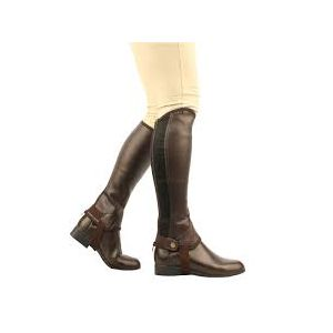 Saxon Equileather Half Chaps - Childs