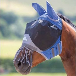 Shires De Luxe Fly Mask with Ears & Tassles