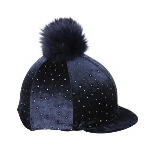 Shires Diamante Velvet Stretch Hat Cover