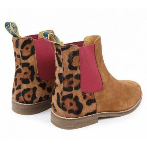 Shires Moretta Leopard Chelsea Boots