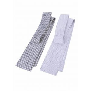 Shires Patterned Stock - White/Navy Check