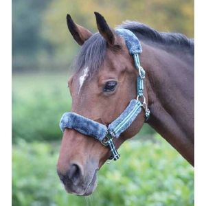 Shires Stripe Fleece Lined Headcollar