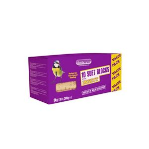 Suet To Go Suet Blocks with Insect - 300 Gm x 10 Pack