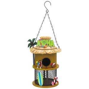 Primus Funky Metal Tiki Bird Feeder House Aloha