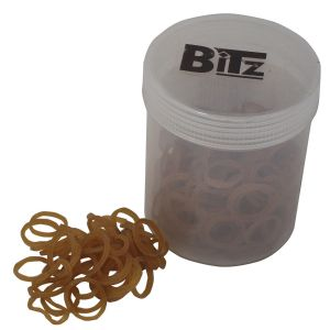 Bitz Plaiting Bands Brown x 500 Pack