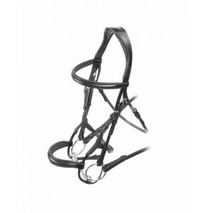 Shires Velociti Rolled Padded Cavesson Bridle