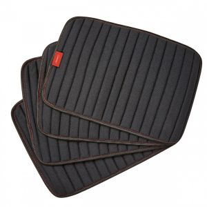 Weatherbeeta Therapy-Tec Channel Quilt Leg Pads Blk Red 4PK