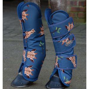 Weatherbeeta 1200D Wide Tab Long Travel Boots - Giraffe Print
