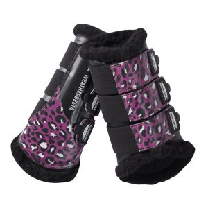 Weatherbeeta Leopard Brushing Boots - Pink Leopard