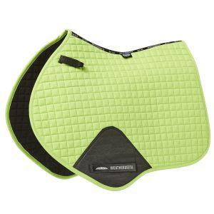 Weatherbeeta Prime Jump Shaped Saddle Pad - Lime Green