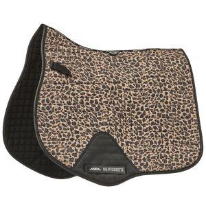 Weatherbeeta Prime Leopard All Purpose Saddle Pad - Brown Leopard Print