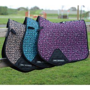 Weatherbeeta Prime Leopard All Purpose Saddle Pad - Turquoise Leopard Print