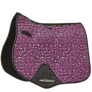 Weatherbeeta Prime Leopard All Purpose Saddle Pad - Pink Leopard Print