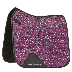 Weatherbeeta Prime Leopard Dressage Saddle Pad - Pink Leopard Print