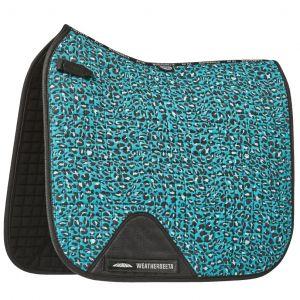 Weatherbeeta Prime Leopard Dressage Saddle Pad - Turquoise Leopard Print