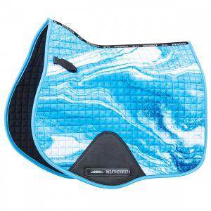 Weatherbeeta Prime Marble All Purpose Saddle Pad - Blue Swirl Marble Print
