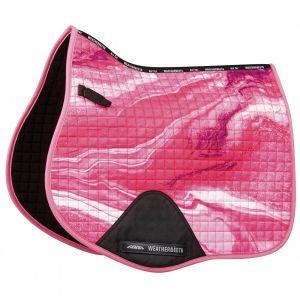 Weatherbeeta Prime Marble All Purpose Saddle Pad - Pink Swirl Marble Print