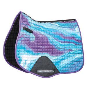Weatherbeeta Prime Marble All Purpose Saddle Pad - Purple Swirl Marble Print