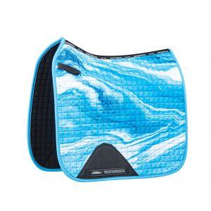 Weatherbeeta Prime Marble Dressage Saddle Pad - Blue Swirl Marble Print