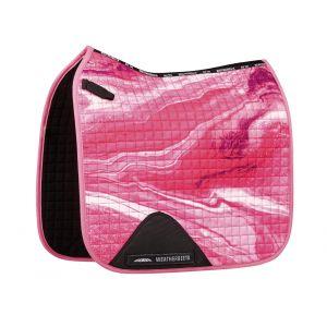 Weatherbeeta Prime Marble Dressage Saddle Pad - Pink Swirl Marble Print