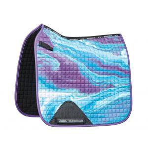 Weatherbeeta Prime Marble Dressage Saddle Pad - Purple Swirl Marble Print