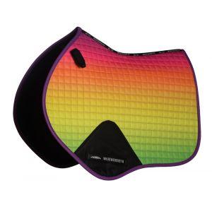 Weatherbeeta Prime Ombre Jump Saddle Pad - Rainbow