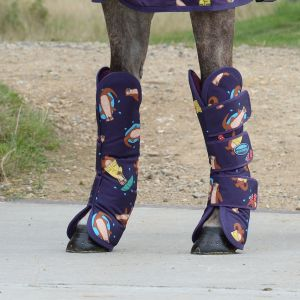 Weatherbeeta Wide Tab Travel Boots - Otter Print