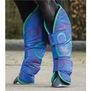 Weatherbeeta Wide Tab Long Travel Boots - Circle Print - Pony