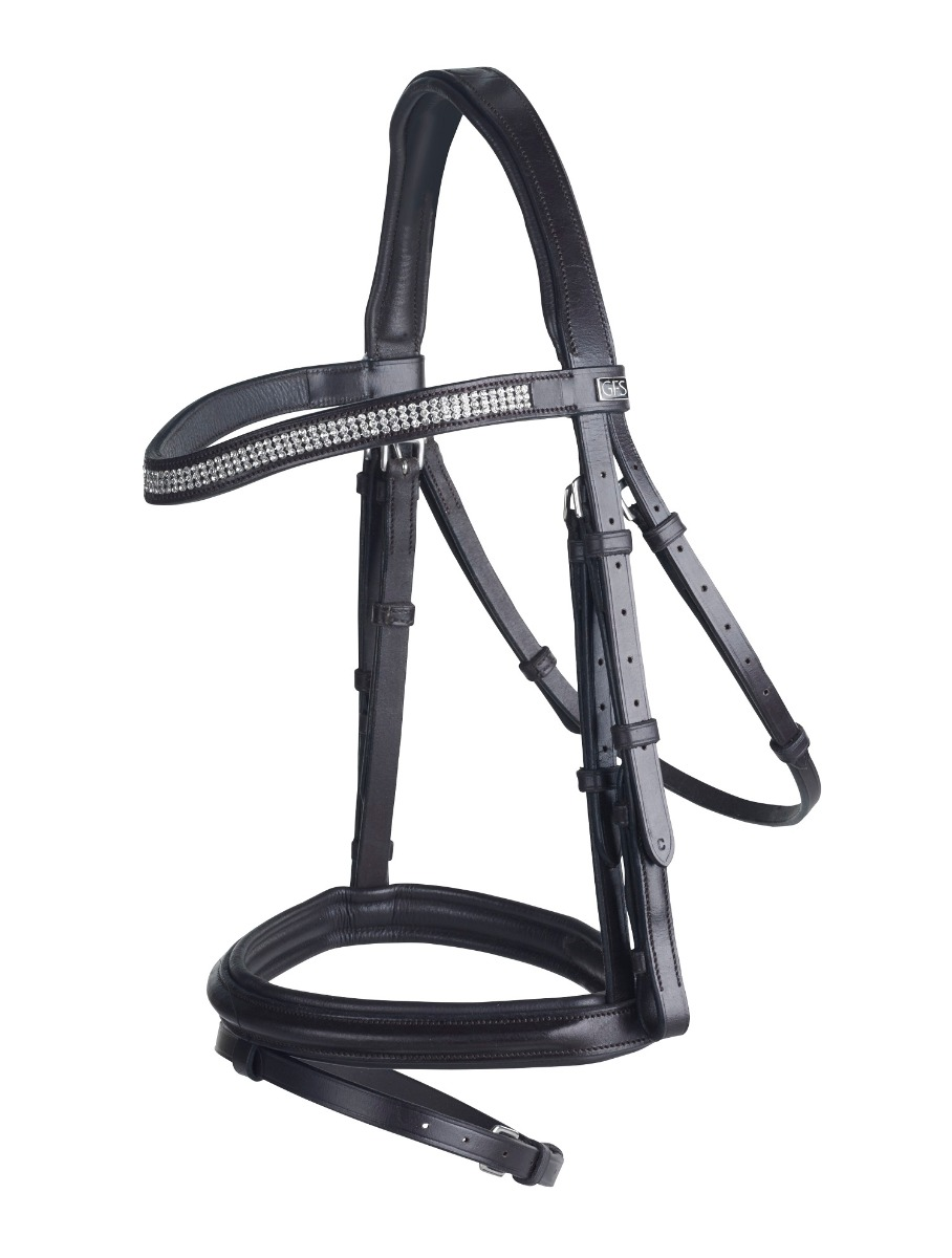 GFS Monarch Flash Crystal Flash Monarch Bridle with Rubber Reins ba75c4